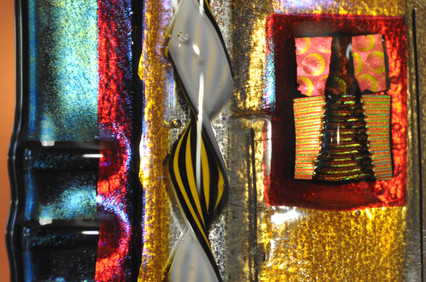 Fused Glass Mirror, detail.2