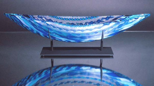 Fused Glass Boat