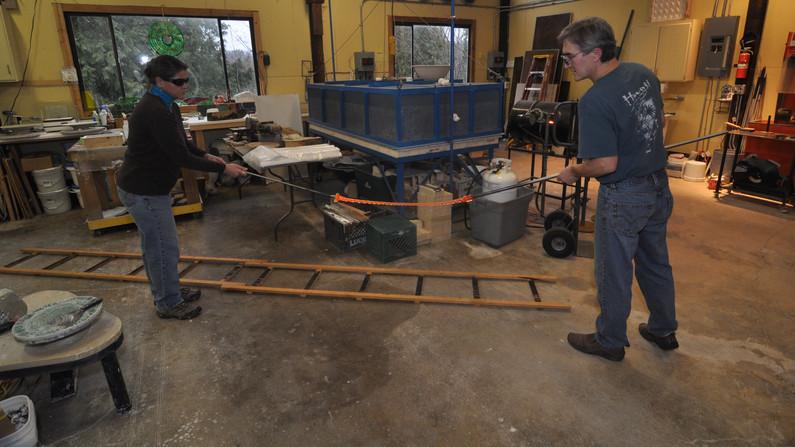Pulling Cane, Mark Ditzler Glass Studio