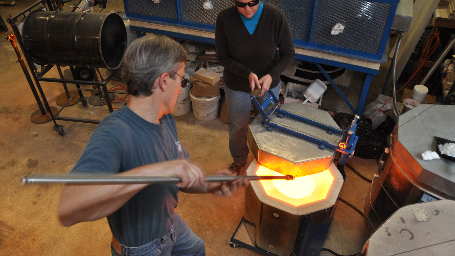 Pulling Cane, Mark Ditzler Glass Studio