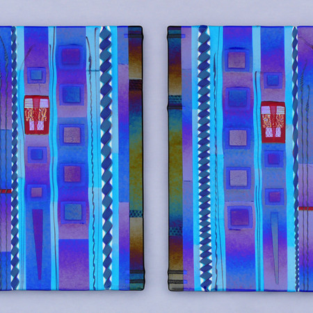 Fused Glass Wall Panels