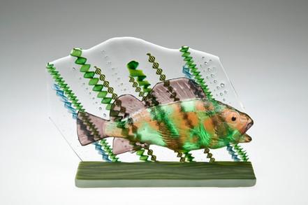 Fused Glass Rockfish Sculpture