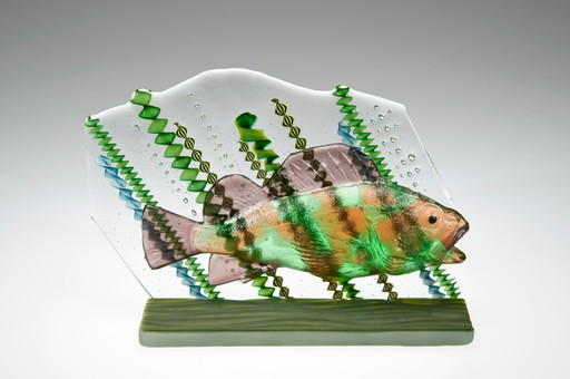 Fused Glass Rockfish Sculpture