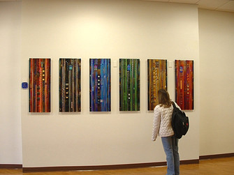 Colorado Colors Fused Glass Wall Panels