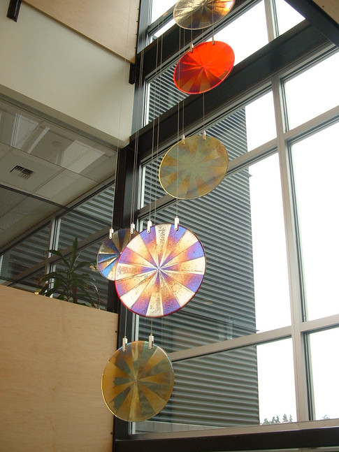 Hanging Fused Glass Circles