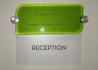 Fused Glass Room Dedication