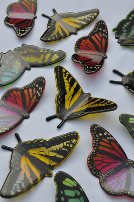 Fused Glass Monarch Butterflies