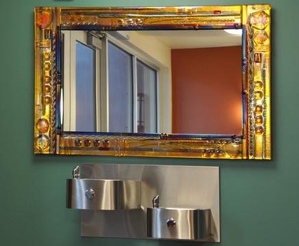 Joseph Fused Glass Mirror Installation