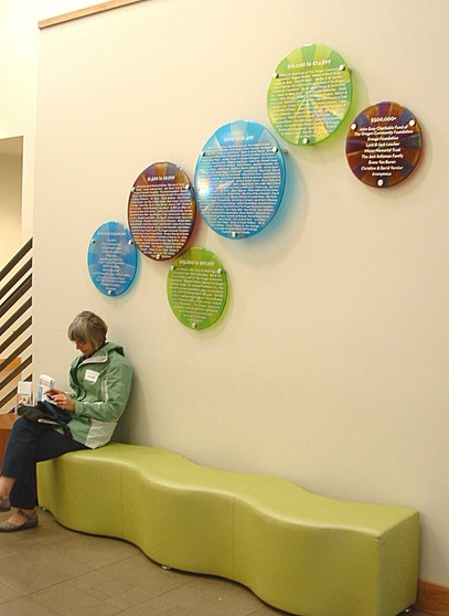 Fused Glass Donor Wall