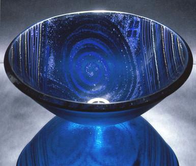 Blue Galaxy Glass Vessel Sink