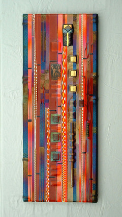 Sunset Fused Glass Wall Panel
