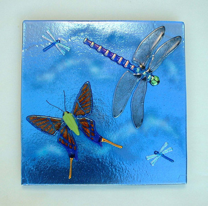 Fused Glass Insect Wall Panel