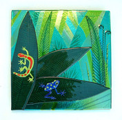 Fused Glass Reptile Wall Panel