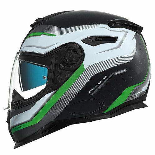 Nexx SX100 Mantik Black Green
