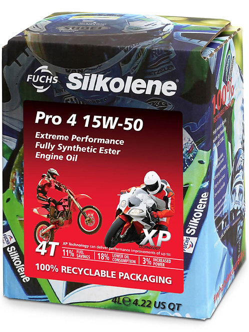 Silkolene Pro 4 15w/50 XP Pro 4 Litres Fully Synthetic