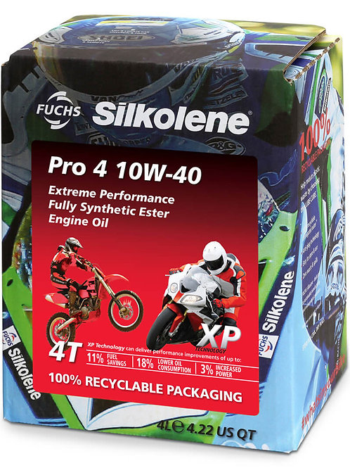 Silkolene Pro 4 10w/40 XP Pro 4 Litres Fully Synthetic