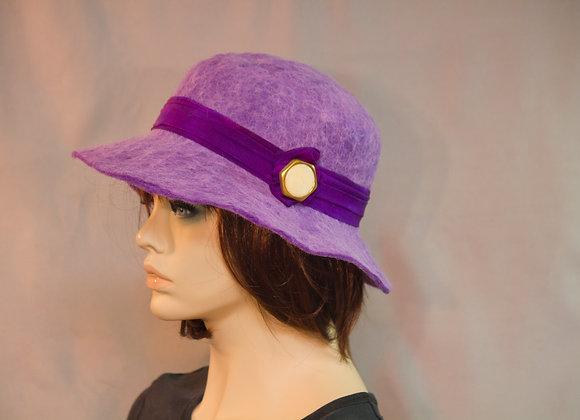 Royal Purple Cloche Hat