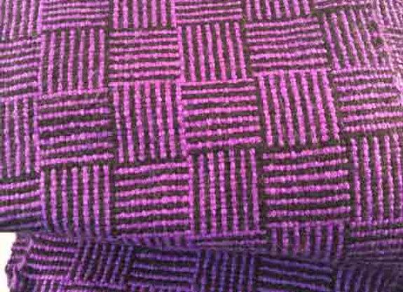 Purple log cabin scarf