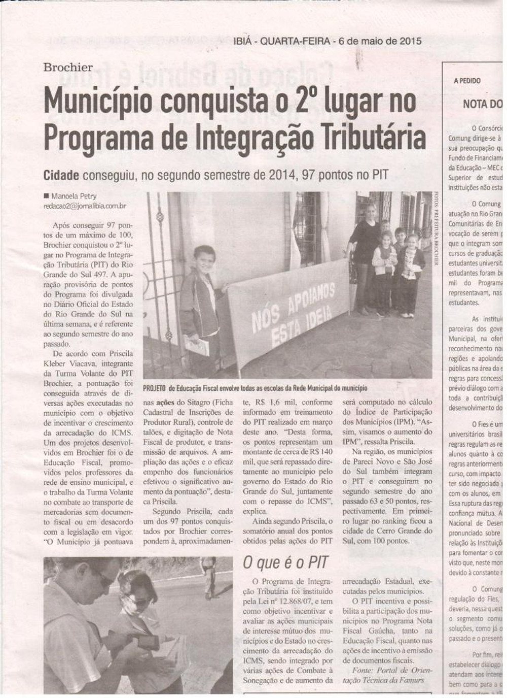 REPORTAGEM IBIÁ SOBRE PIT