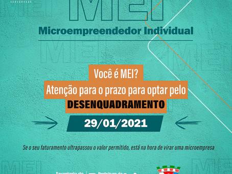 Atenção para os prazos para desenquadramento das MEI's