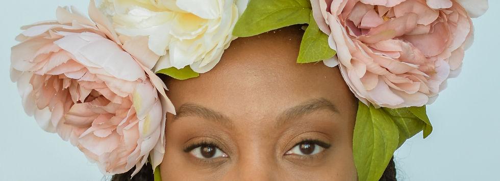 Victoria Reed, black owned businesses, black owned businesses online, flower crown, victoriareed.com, neutral eyeshadow, natural eyeshadow, black women, VR Magazine, Victoria Reed Magazine, mented cosmetics, mented makeup