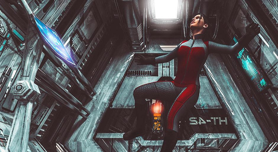 Flutuando no espaço
