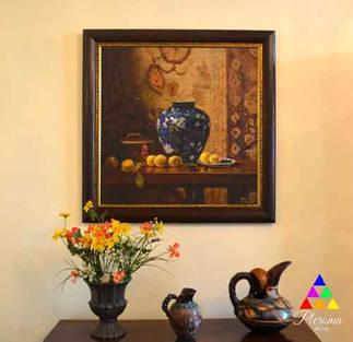 Bodegón y cuadros de flores