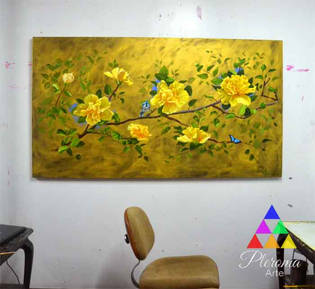 Bodegon Cuadros Decorativos Flores Lima Pleroma Arte