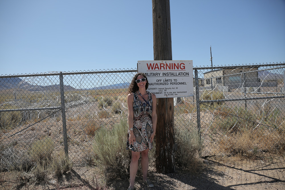UFO Jane at the Area 51 Gate
