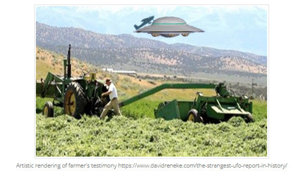 plane attached to flying saucer