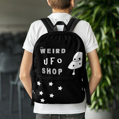 The Weird UFO Shop  Black Backpack