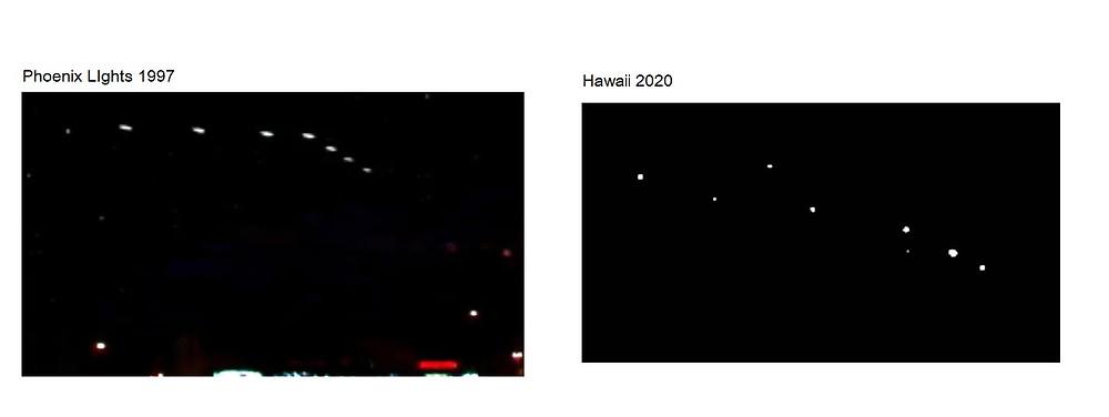 Phoenix LIghts 1997 vs Hawaii UFOs 2020
