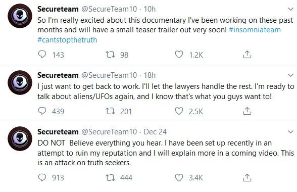 Recent Tweets from SecureTeam10 https://twitter.com/SecureTeam10