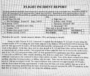 UFO incident report