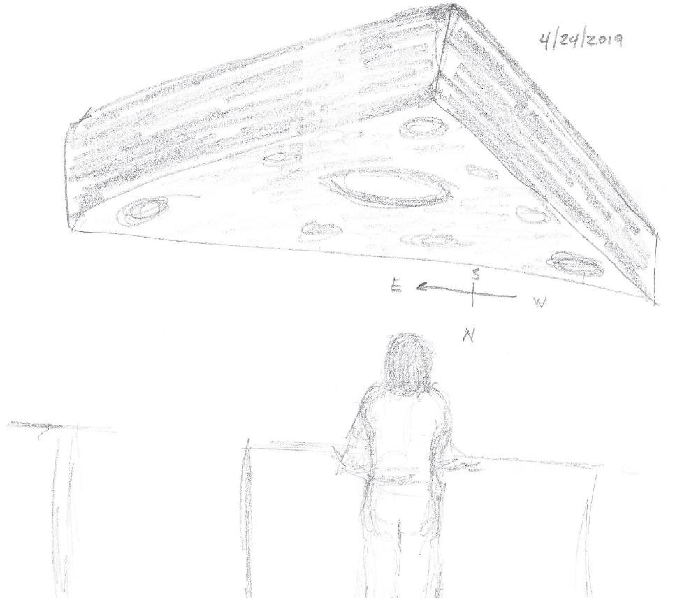 Triangle UFO April 2019 Spokane WA