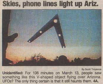 Phoenix Lights 1997 drawing