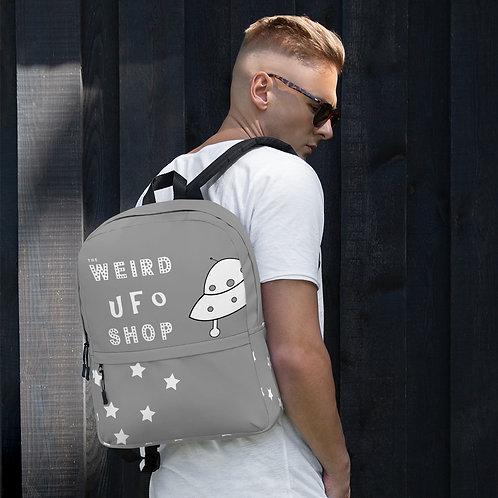 The Weird UFO Shop Gray Backpack