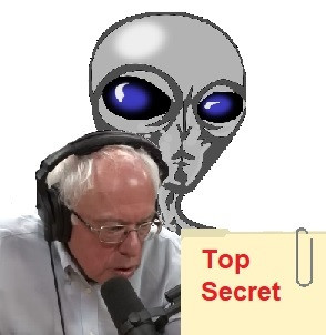 If Bernie Sanders Finds Out About UFOs and Aliens, He'll Announce It on Joe Rogan