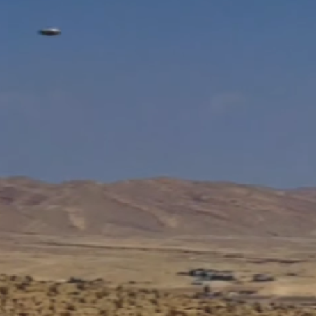 Flying Saucer Zips Across Desert Near Area 51 - UFO Captured on Motion Censor Camera!