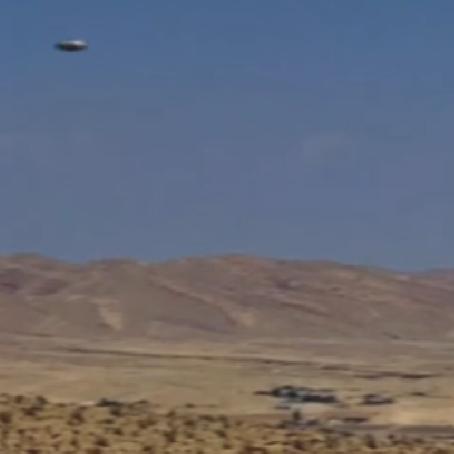 Flying Saucer Zips Across Desert Near Area 51 - UFO Captured on Motion Censor Camera!