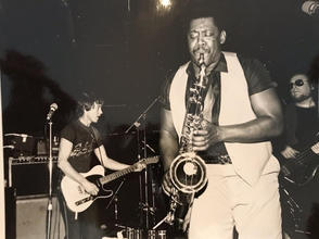 Billy playing with Clarence Clemons