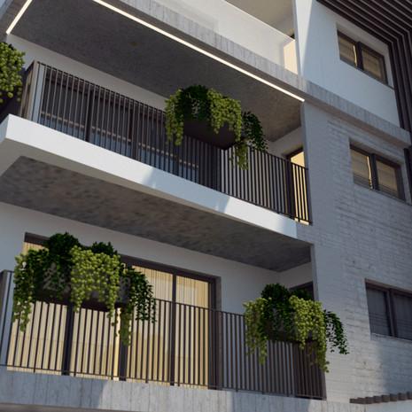 Apartman Cephesi Tasarımı   Menemen İzmir   Tasarım Ekibi Esin Uçkun   Mimar Batuhan Turan   Mimar