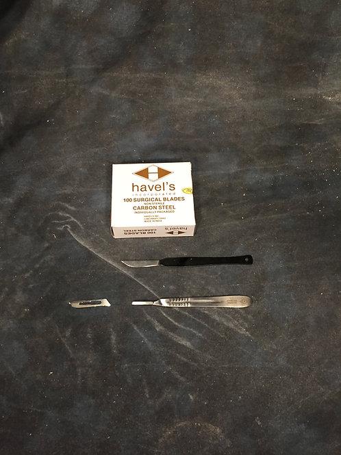 Skinning Knife, Scalpels, Handles
