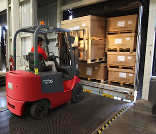 Fork Lift loading boxes