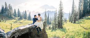 seattle wedding photographer, seattle elopement photographer, mt rainier wedding, mt rainier engagement, snohomish wedding photographer