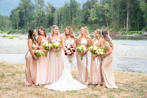 seattle wedding photographer, seattle bridal party photos, sultan wedding, snohomish wedding photographer