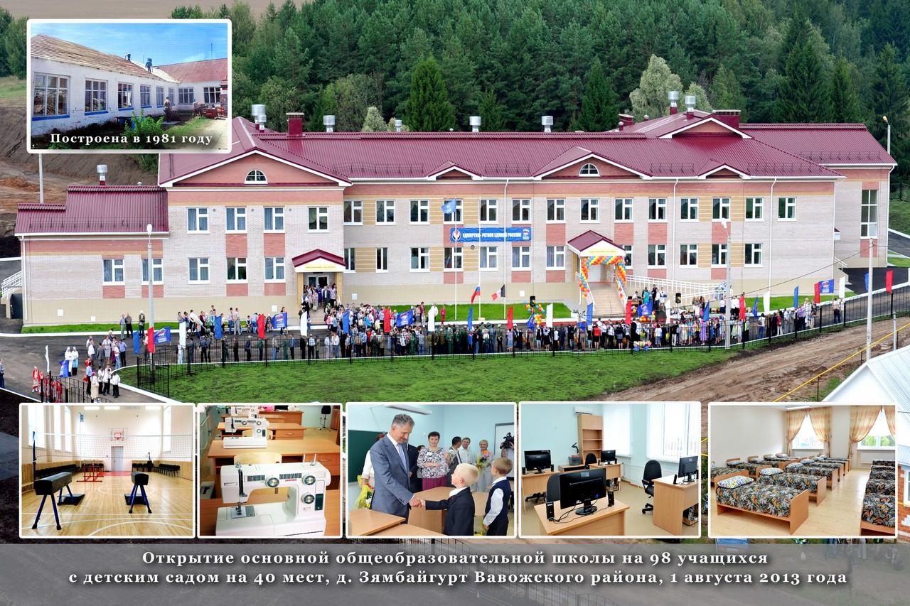 Школа Зямбайгурт Вавожский район