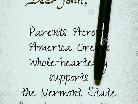 "A ""Dear John"" letter from Vermont"