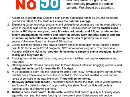 VOTE NO on 98 Flyer