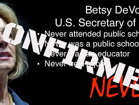Betsy DeVos Confirmed U.S. Secretary of Education. Sad.